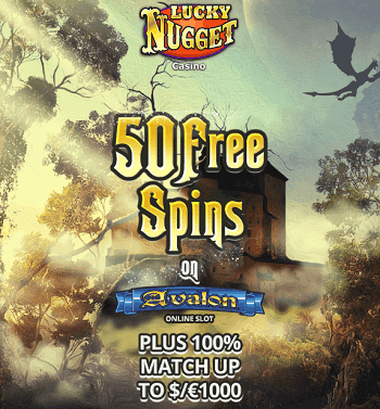 50 spins on slots at lucky nugget